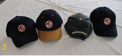 Caps in 4 different styles